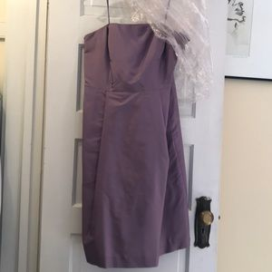 Strapless Lilac/lavender silk cocktail dress